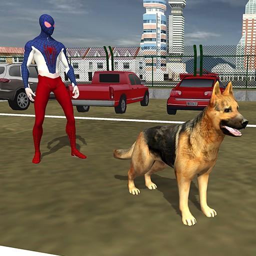 Spider Hero Police Dog Simulator