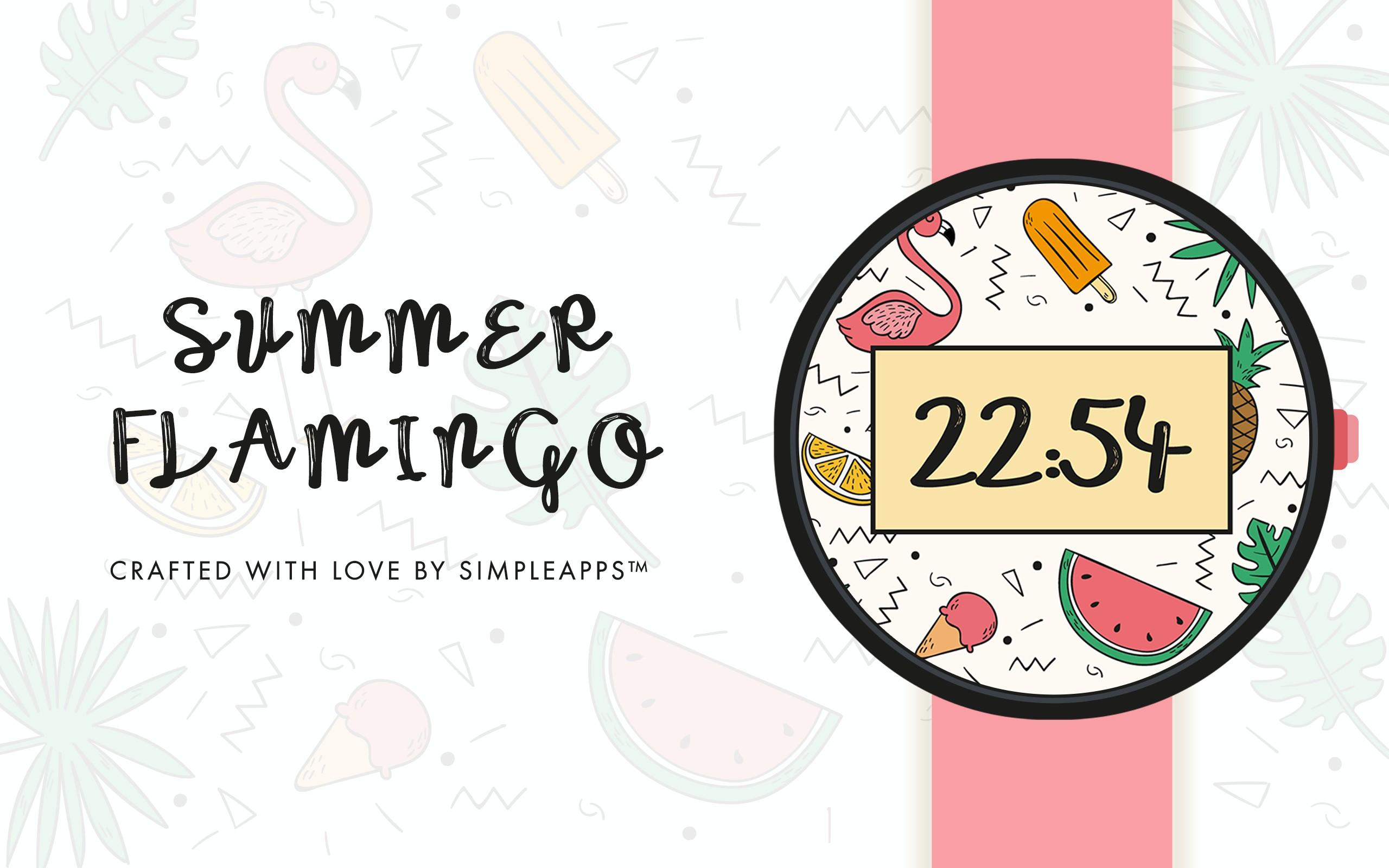 Summer Flamingo Watch Face