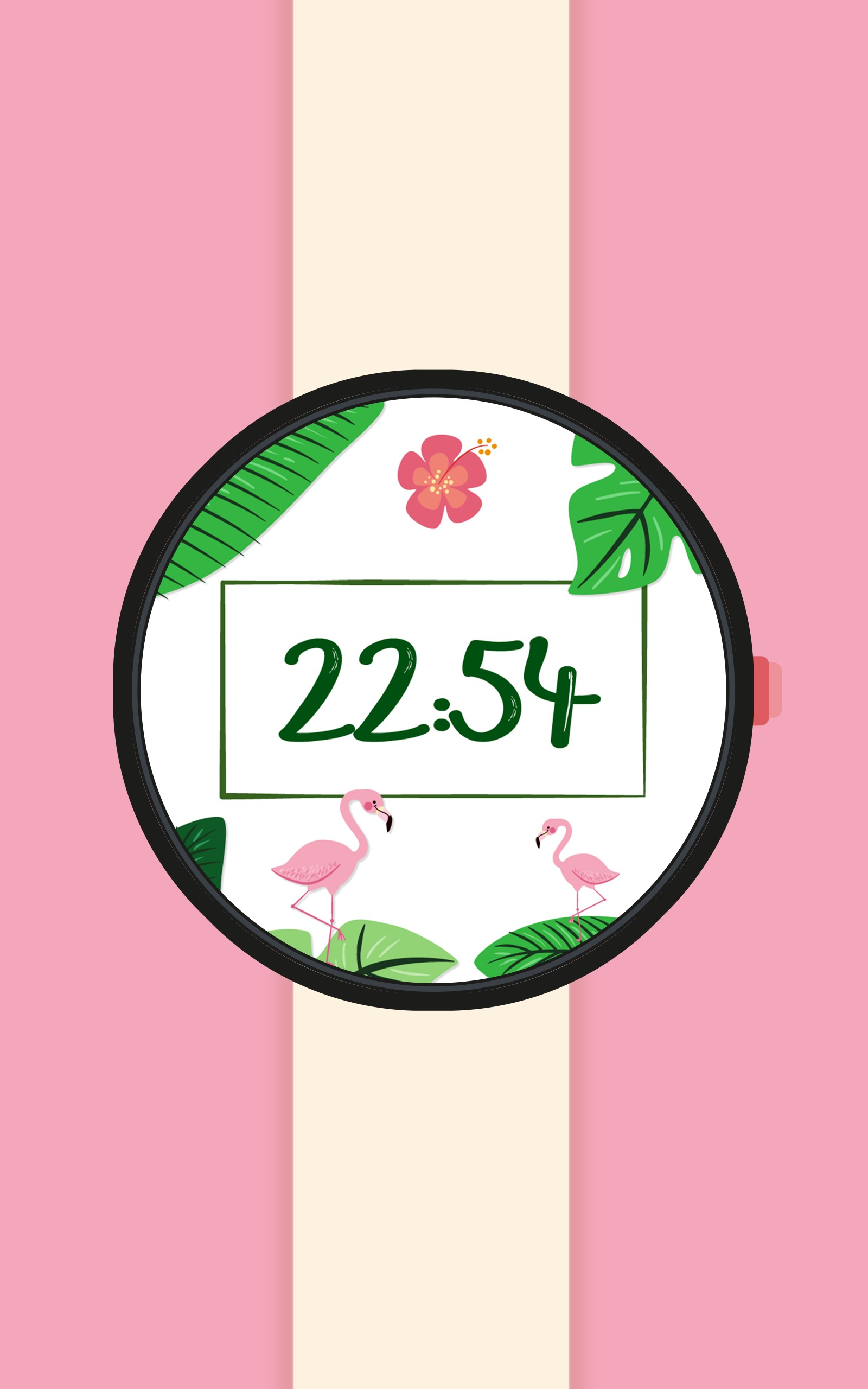 Summer Tropical Watch Face - Flamingos Pineapples