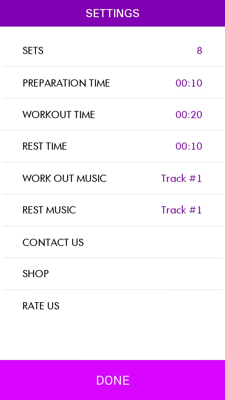 Timer Tabata with music