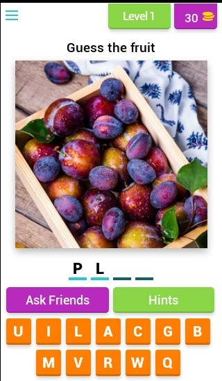 Guess fruit from picture