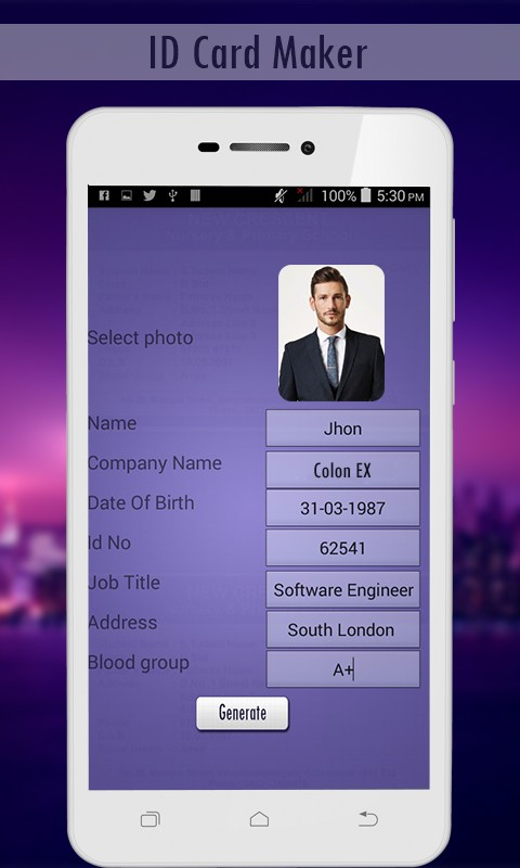 Card Id Card Generator Maker-fake Id