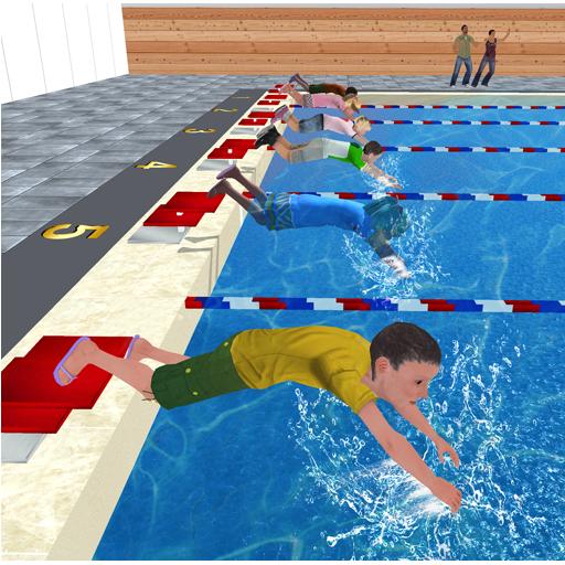 Kids Water Swimming Championship