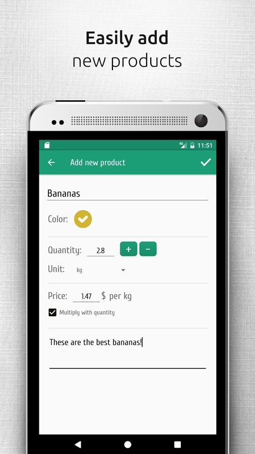 Shopsly - Grocery list