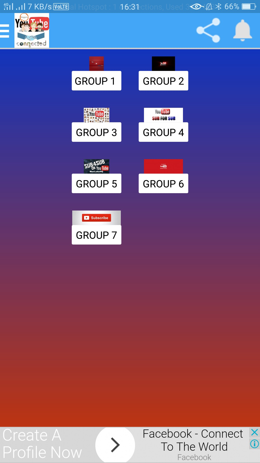Bloggers Youtubers Groups