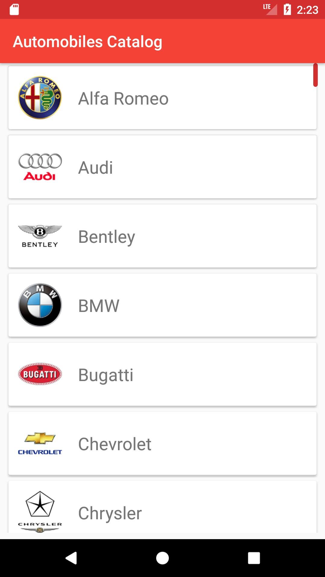 Cars Catalog
