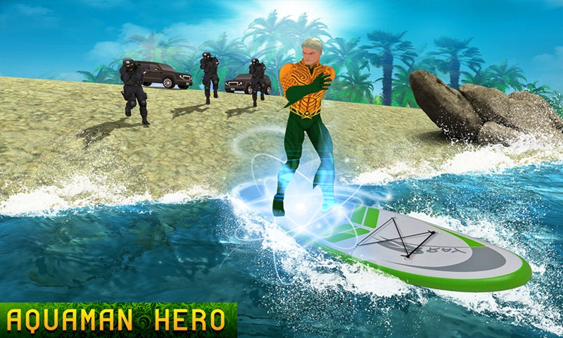 Aqua Hero VS Superheroes Crime Battle