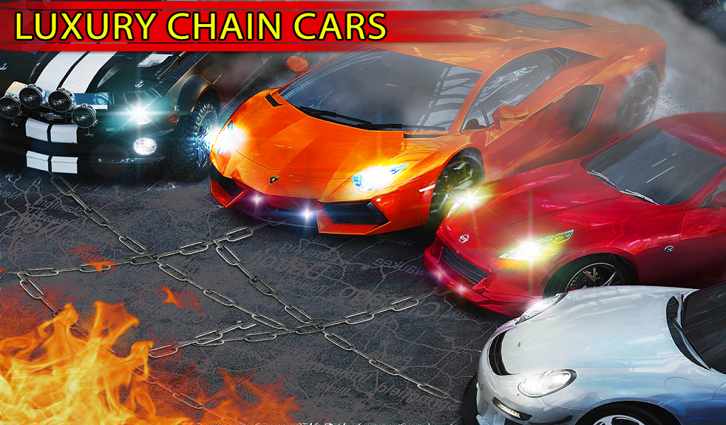 Chained Cars Rival 3D : Stunt Driver 2017