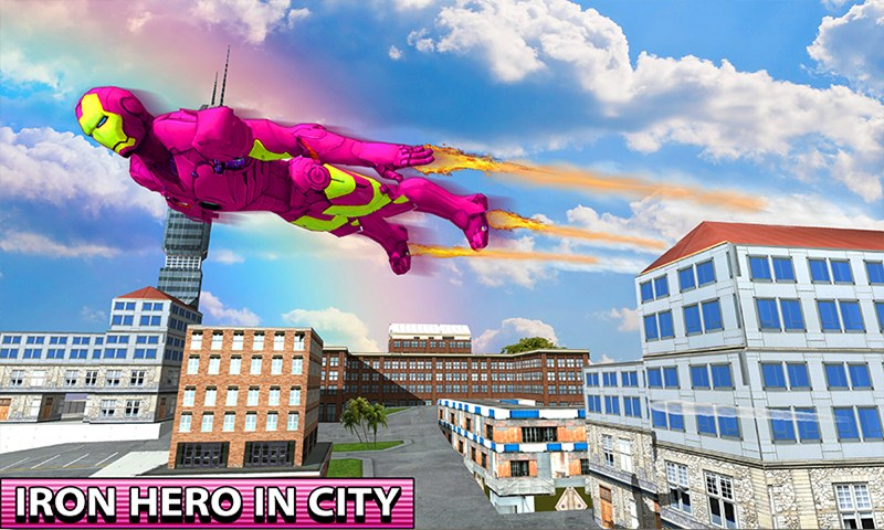 Flying Iron Hero City Survival
