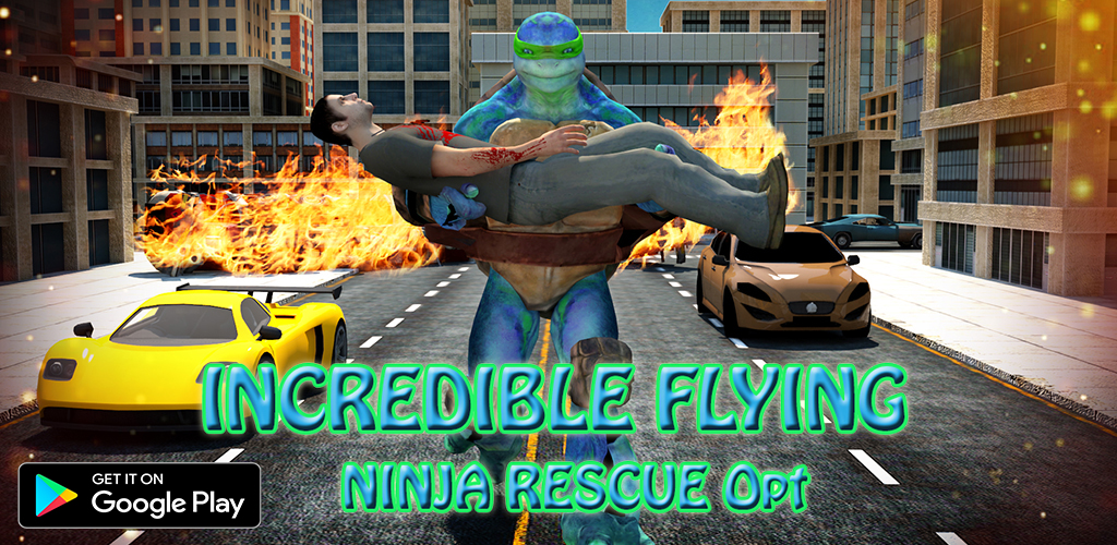 Incredible Super Flying Ninja City Rescue Opt