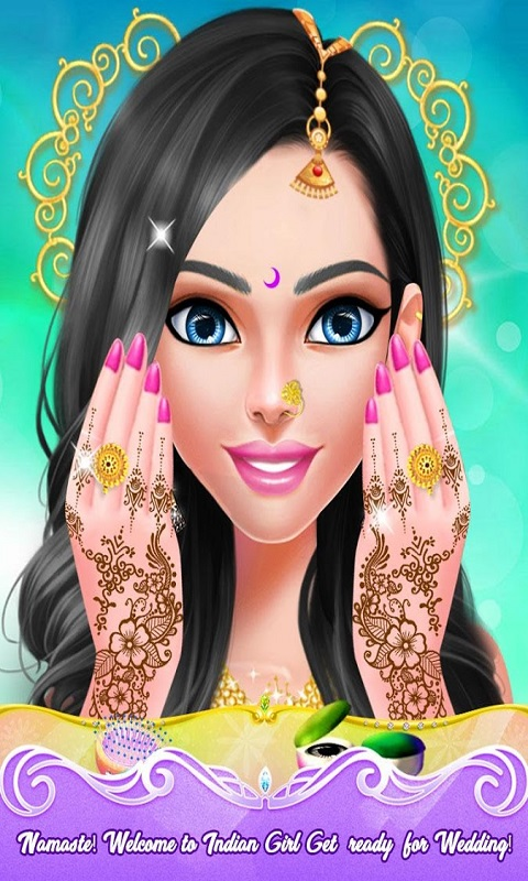 Indian Doll Bride Wedding Girl Makeup And Dressup