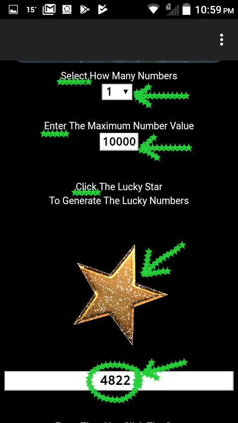 Lucky Star Numbers