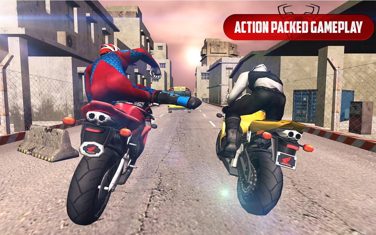 Spider Stunt Rider Superhero Spider Highway Rider