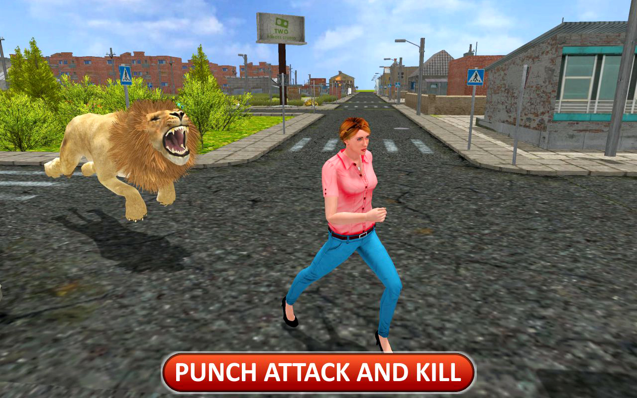 Angry Lion Dangerous Attack Simulator