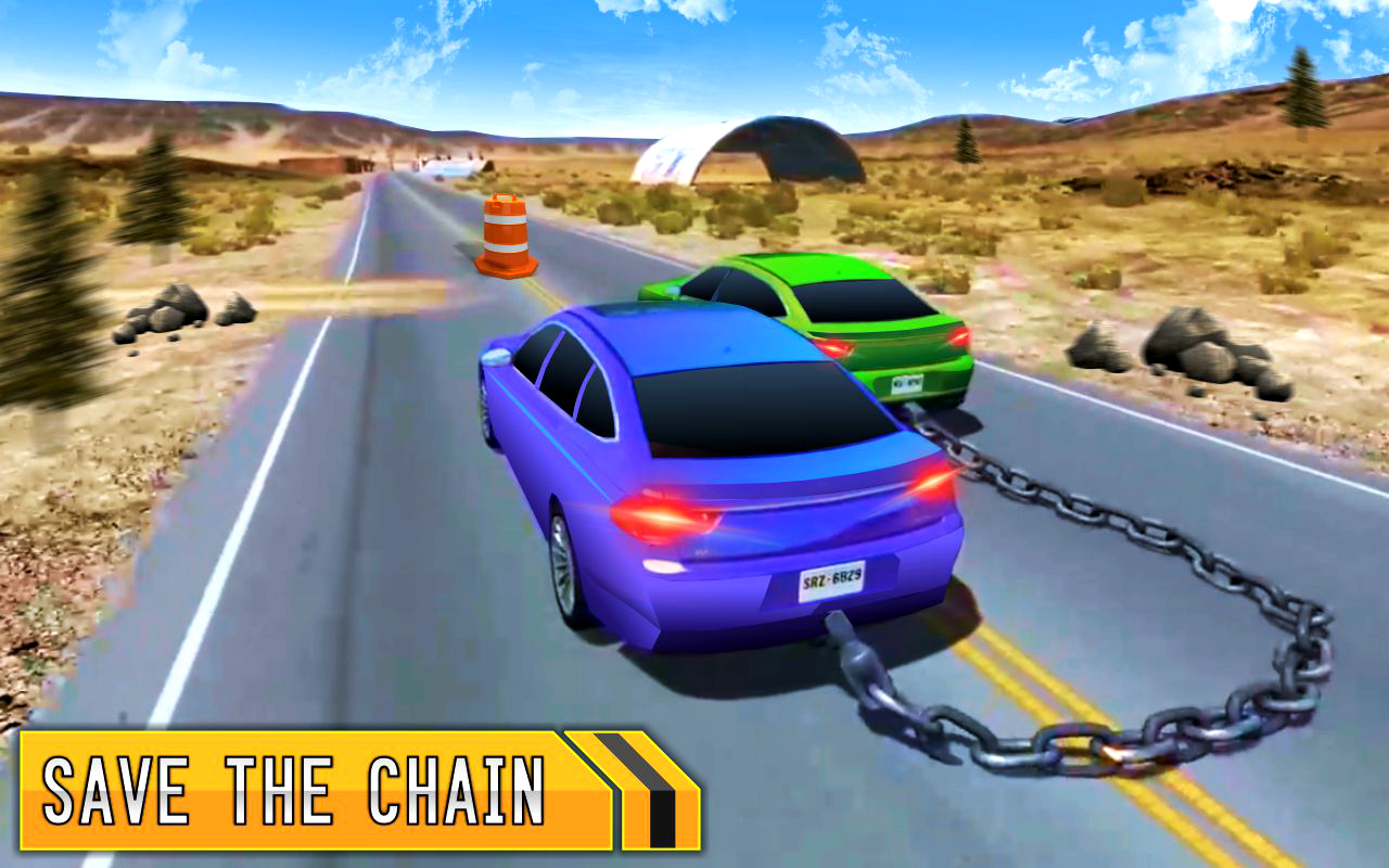 Chained Cars 3D