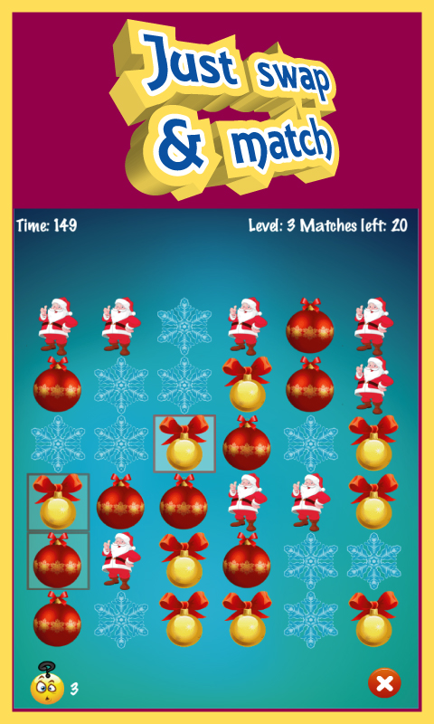 Christmas Match 3 Puzzle Game