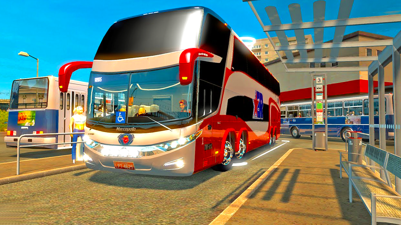 Luxury Tourist City Bus Driver