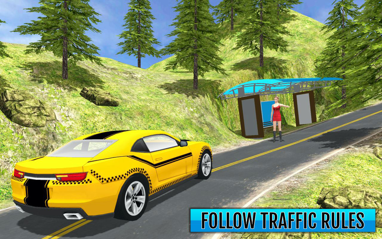 Mountain Offroad Taxi: Hill Driver 3D