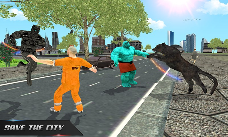 Multi Panther Hero VS Super Villains