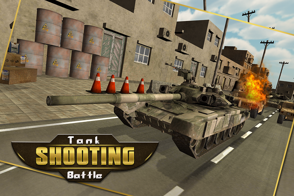 Tank shooting battle: highway attack on rival tank