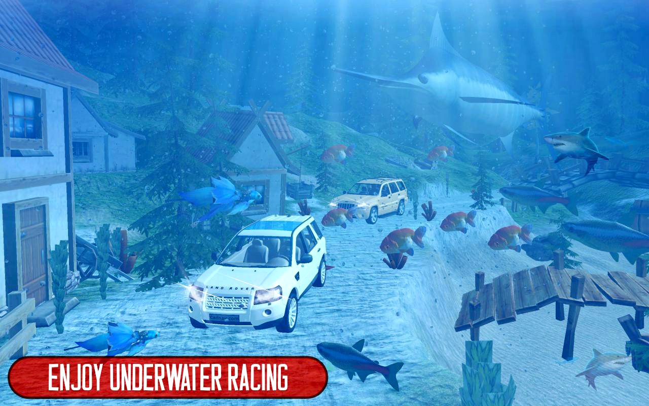 Water Land Cruiser Prado Driver 3D