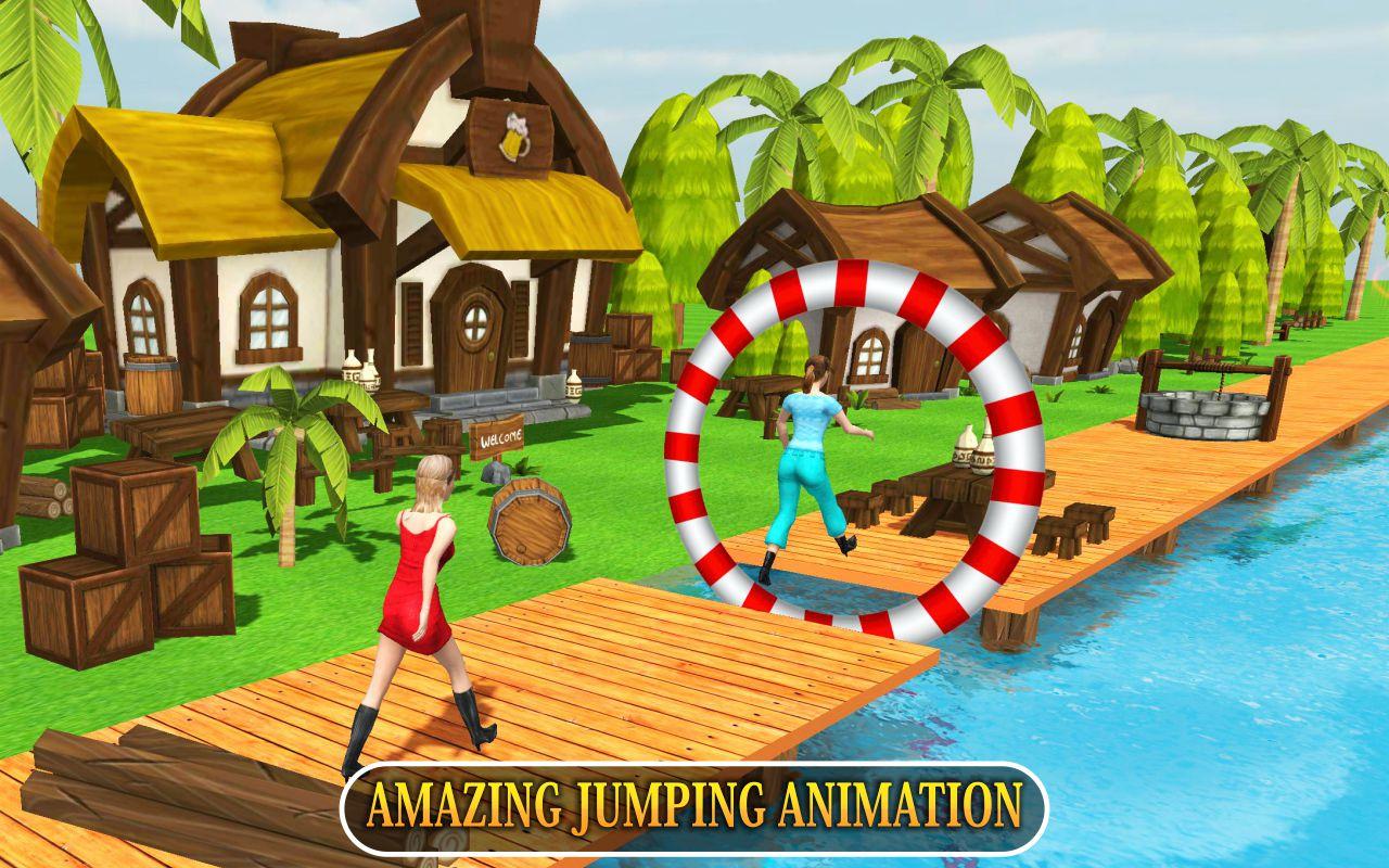 Water Park 3D: Crazy Man Runner