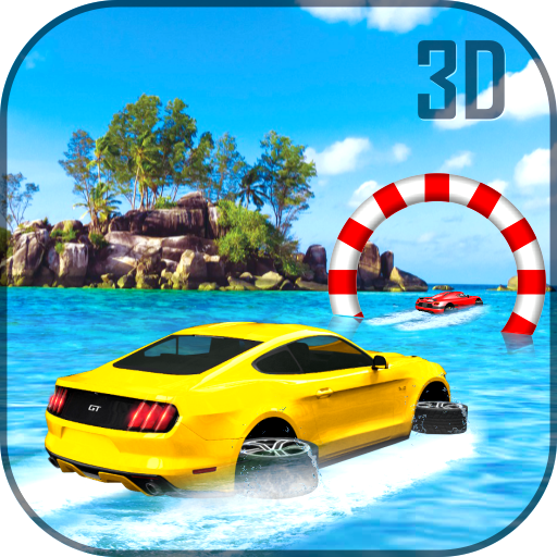 Water Surfer Luxury Car: Beach Driver 3D