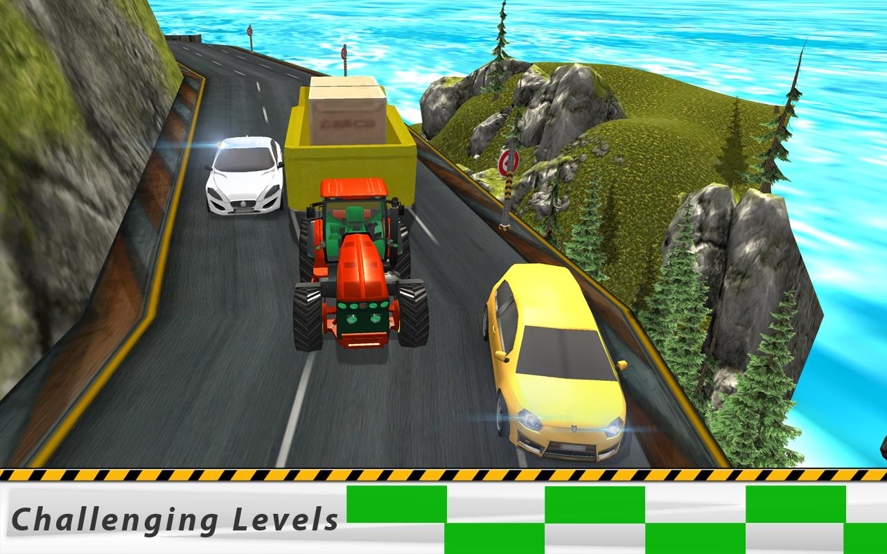 Heavy Duty Cargo Tractor - Climb Simulator Games