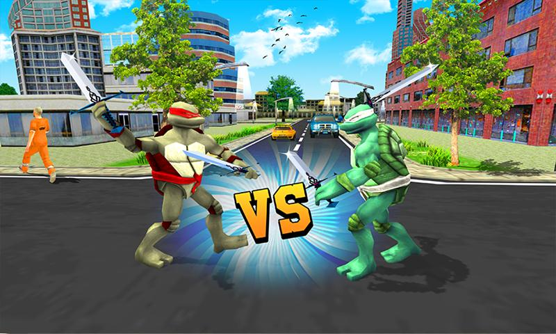 Multi Ninja Hero Vs Evil Turtle Villain