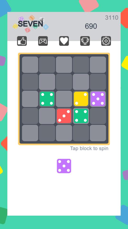 Seven - blocks merged game