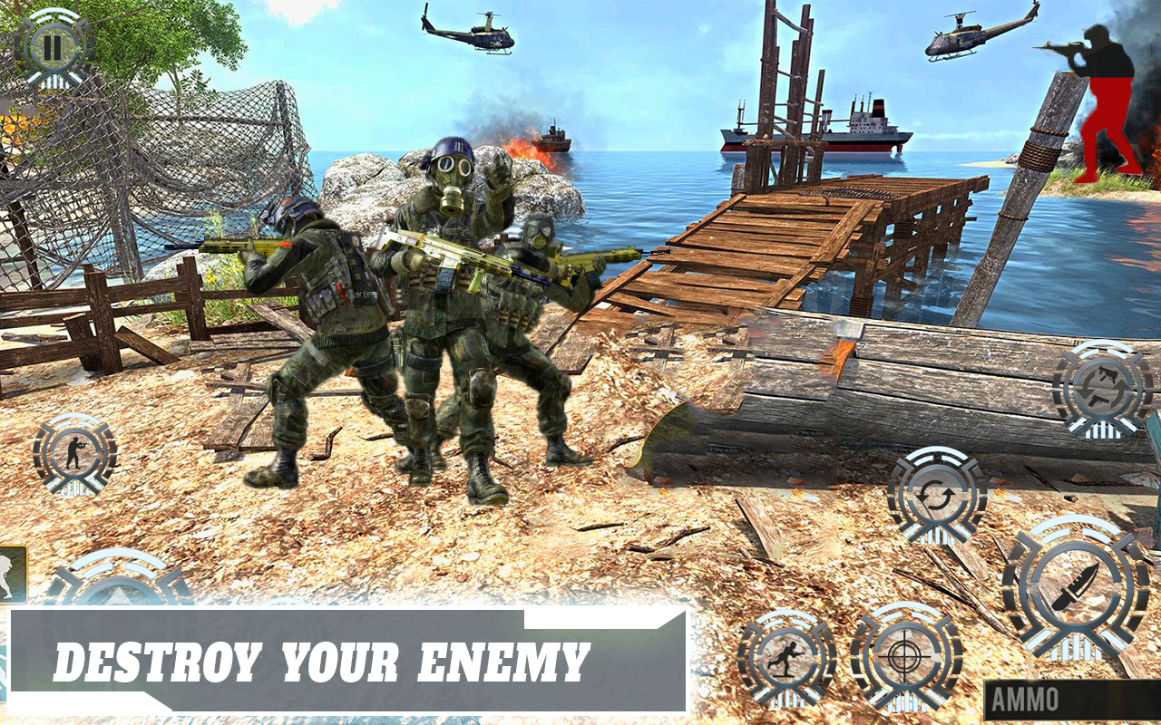 Commando Gun Strike - FrontLine Commando Adventure