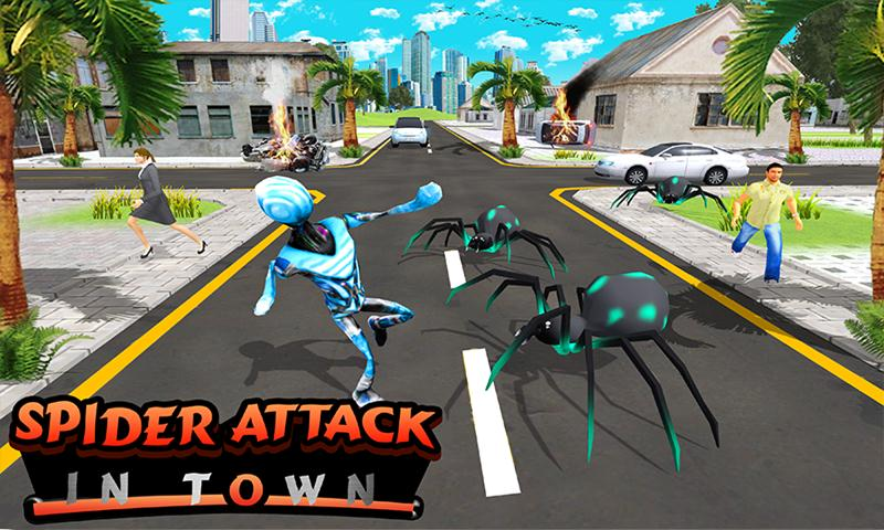 Flying Stick Hero vs Multi Spider Villain