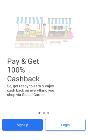 Global Garner- 100% Cashback Offer App