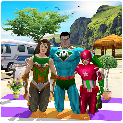 Virtual Superhero Family Holiday Camping