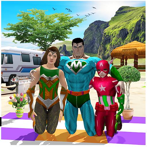 Virtual Superhero Family Holiday Camping