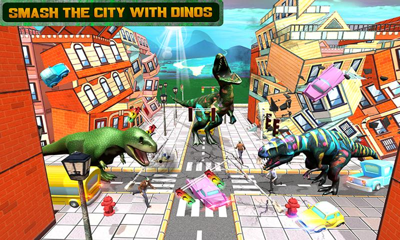 Wild Dinosaur City Attack