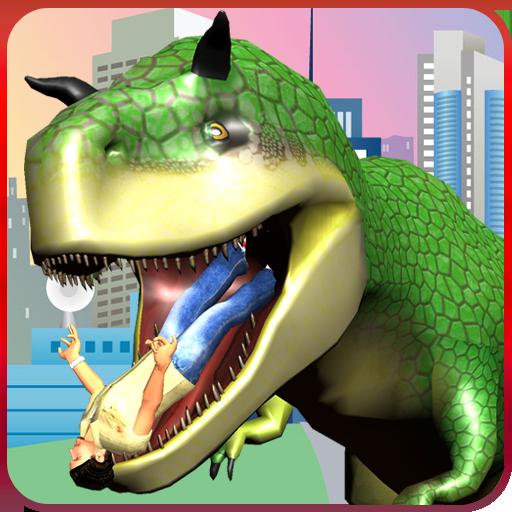 Wild Dinosaur City Attack