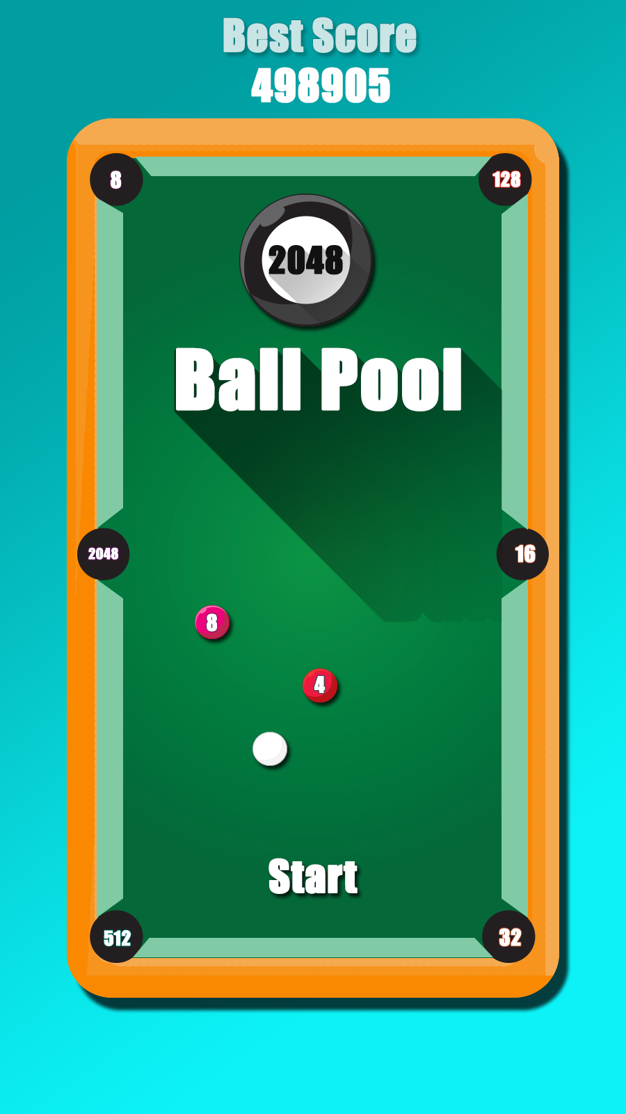 2048 Ball Pool (2048 ball billiards)