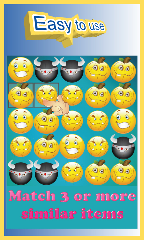 Emoji Match 3 Puzzle Game