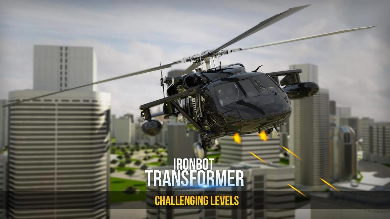 Iron Hero Robot Transformer into Car War 2018