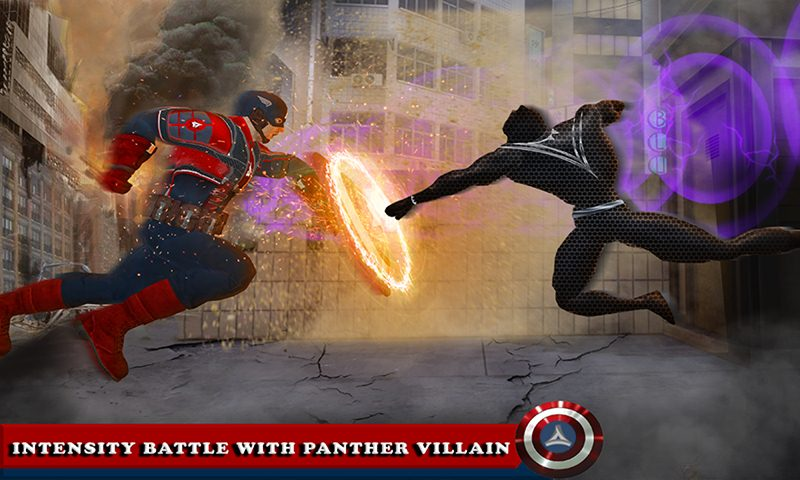 Multi Captain Hero Kid Vs Panther Villain Battle