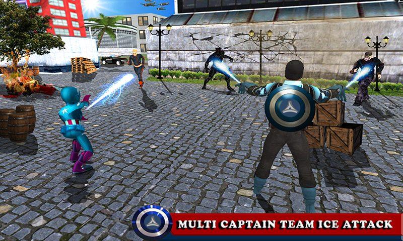 Multi Captain Hero Kid Vs Panther Villain Battle