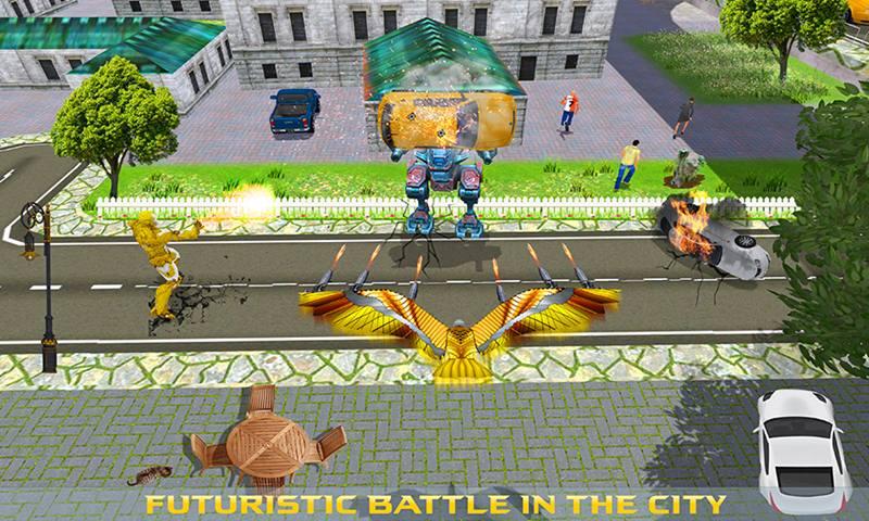 Multi Iron Eagle Robot vs Robotic Machines