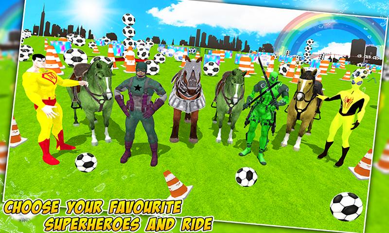 Superheroes Horse Racing Stunts Simulation