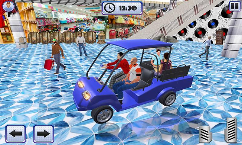 Shopping Mall Taxi Driver Cart Simulator