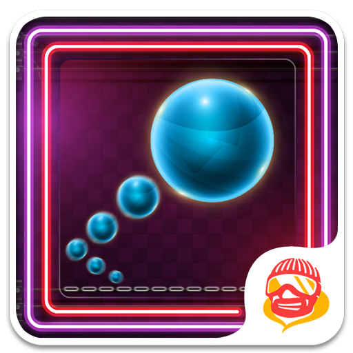 Block Neon Bouncy Ball: Super Fast Tapping Game