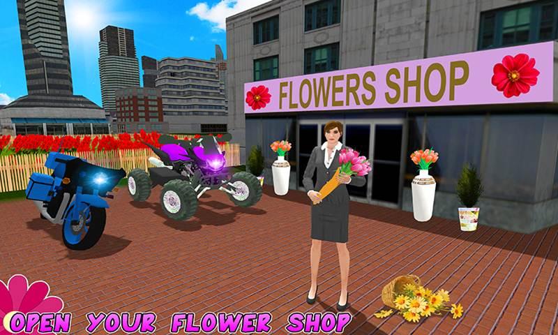 Flower Delivery Bike Simulator
