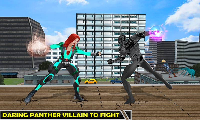 Multi Spider Heroine Vs Super Villain Crime Battle