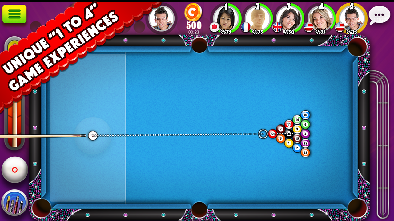 Pool Strike Online 8 ball pool billiards with Chat