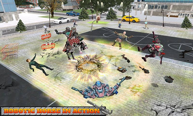 Robot Horse Robotic Car Transform Game